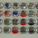 div. 3D Etiketten auf Chromfolie