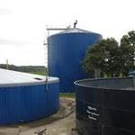 Silo als Biogasfermenter