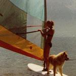 erste Surf-Versuche