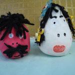 Oder durch witzige Ballon-Figuren, gefüllt mit Sand.