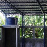 dass sogar die Installation einer WC-Spülung mit Regenwasser möglich war