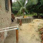 O poço junto com a zisterna garante o abastecimento suficiente de água