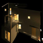 KT&M house North Facade night plan