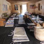 Aufbau in der Galerie El Magazein