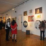Vor Eröffnungsbeginn: Tierbilder der jüngsten Künstlerin ( Jaqueline Patrizia, 14 Jahre)