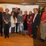 KünstlerkollegInnen mit Gastgeber Dr Heistinger und Vetart Obmann Karl Bauer