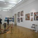 Vor Eröffnungsbeginn: Rundgang durch die vielen Ausstellungsräume;