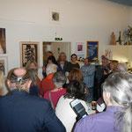 Eröffnung der Vernissage durch die Veranstalter und den Bezirksvorsteher