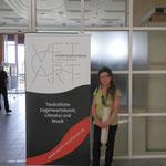 Entree zur Ausstellung im Panoramasaal des Mensagebäudes