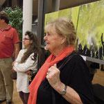 Vorstellung der KünstlerInnen durch die Kuratorin: (li-re) Erich Schopf, Sylvia Kölbl, Prof. Gertrud Keck