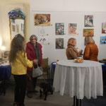 """Small talk mit Ursula Pfeiffer und """"Schuft"""" vor Ausstellungseröffnung"""