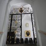 Prunkvolles schmiedeeisernes Tor zu den Räumen im 1. Stock