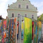 Die bunten Fahnen in Voitsberg