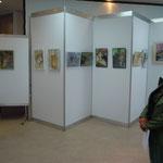 Blick auf die Wände mit meinen 10 Bildern