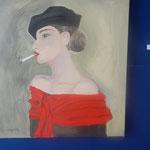 "C. Gallauners Bild ""Femme fumante"""