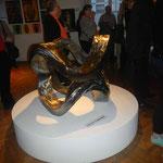 Eine der ausgestellten Skulpturen