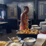 Das Buffet verwöhnte mit afrikanischen Spezialitäten