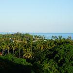 Aussicht von unserem Hotel in Las Terrenas
