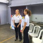 Ein herzliches Willkommen in der Schule in Santo Domingo...