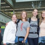 Vor dem Ablfug..von links: Rahel,Moira, Helena & Lara