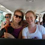 Erste Guagua-Fahrt(wie ein Taxi, nur ein ganz winziges bisschen voller..)