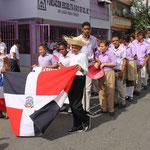 Marsch zu Ehren des Gründervaters Francisco del Rosario Sánchez