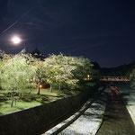 IBD(メンサ国際会議)in 京都。なんと美しい月夜。