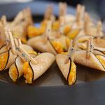 épingle de radis noir compoté de mangues