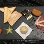foie gras maison, glace pain d épice, magret fumé