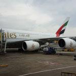Da steht er der Airbus A380 800