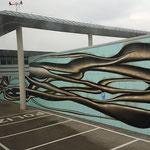 Die Mauer des Vip Flughafens.