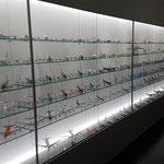 Der Zugangsbereich zum Besucherzentrum ist schon beeindruckend, mit der wohl größten Sammlung an Modellflugzeugen, die ich je gesehen habe