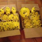 Bälle bereit zur Verteilung