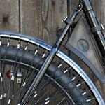 1935 Rixe Chrom-Ballon-Damenrad, Werkzeugtasche von Veleda