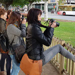 Curso basico de fotografia digital.  Tarragona, con Eva, Rosario, Anna y Arantxa.