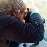 Roser, practiques diurnes del curs bàsic de Fotografía Digital. Fotografía Andreu Gual.