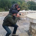 Agusti i Joan Mar , practicando la profundidad de campo.  Foto: Andreu Gual
