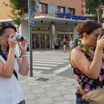 Curso basico de fotografia digital.  Tarragona, con Magda y Pili.