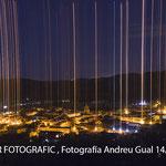 Nocturna de Prades, des de Les Espurrides. Foto Andreu Gual