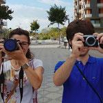 Curso basico de fotografia digital.  Tarragona, con Marta y Jesús.