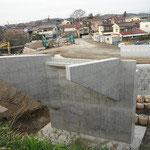 準用河川下の川 橋梁下部工工事 (前田橋)
