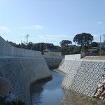 下の川堤防天端整備工事