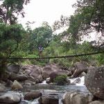 Monkey bridge in Kham Duc, Easy Riding with Uncle Nine