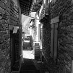 les ruelles du village de Montrigon (arc 1600)