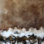 Ibuki, 2013, mixed media on canvas, 100 x 100 cm