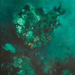 Bluemoon, 2013, mixed media on canvas, 130 x 97 cm