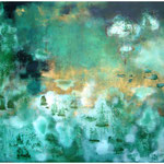 The jade forest, 2011, mixed media on canvas, 130 x 130 cm