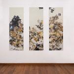 Untitled, 2019, mixed media on wood, 180 x 160 cm