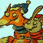zahlennachmalen.de Fuchs und Hase-eine Romanze.