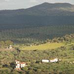 """""""Sierras y Valles"""", desde la subida al Castillo, con Sierra Vieja (812m.), al fondo."""